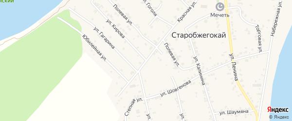 Улица Кирова на карте аула Старобжегокай Адыгеи с номерами домов