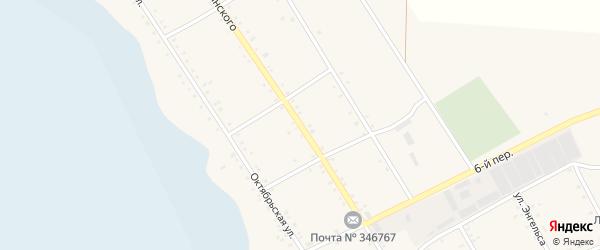 Улица Дзержинского на карте села Елизаветовки Ростовской области с номерами домов
