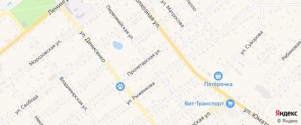 Первомайская улица на карте Киржача с номерами домов