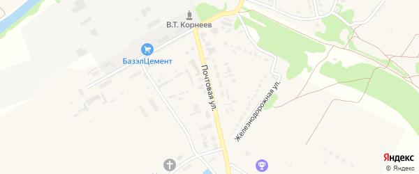 Почтовая улица на карте Октябрьского поселка с номерами домов