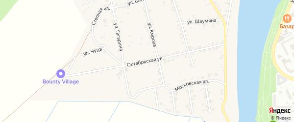 Октябрьская улица на карте аула Старобжегокай Адыгеи с номерами домов