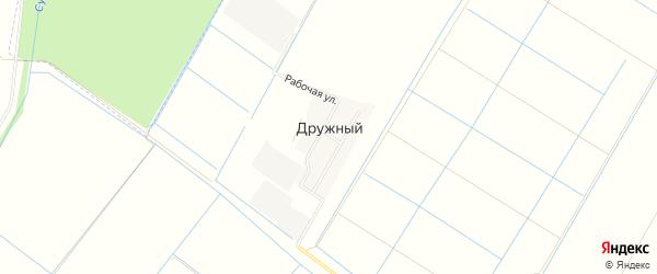 Карта Дружного поселка в Адыгее с улицами и номерами домов