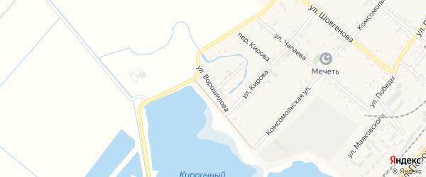 Улица Ворошилова на карте поселка Энема Адыгеи с номерами домов