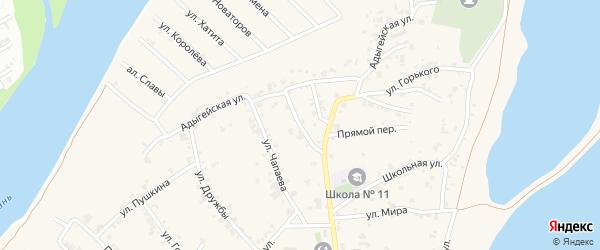 Улица Маяковского на карте аула Старобжегокай Адыгеи с номерами домов