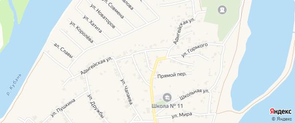 Улица Котовского на карте аула Старобжегокай Адыгеи с номерами домов