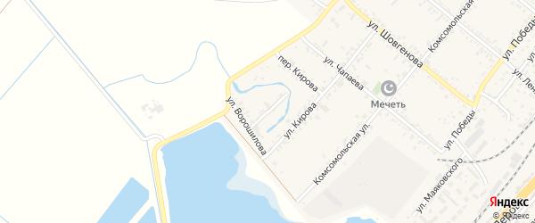 Переулок Ворошилова на карте поселка Энема Адыгеи с номерами домов