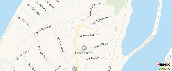 Прямой переулок на карте аула Старобжегокай Адыгеи с номерами домов