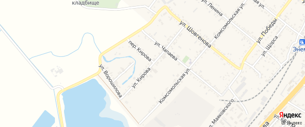 Улица Кирова на карте поселка Энема Адыгеи с номерами домов