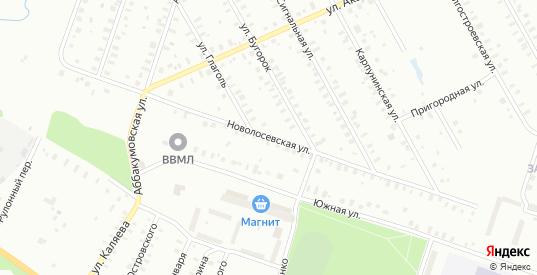 Бугорок/Новолосевская улица в Рыбинске с номерами домов на карте. Спутник и схема онлайн