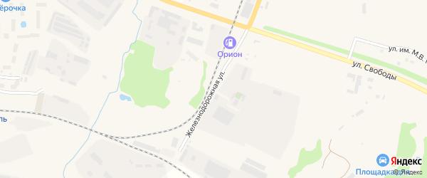 Железнодорожная улица на карте Переславля-Залесского с номерами домов