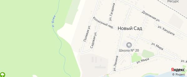 Садовая улица на карте Красной Звезды Адыгеи с номерами домов