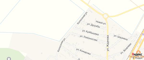 Колхозная улица на карте поселка Энема Адыгеи с номерами домов