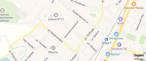 Улица Ленина на карте поселка Энема Адыгеи с номерами домов