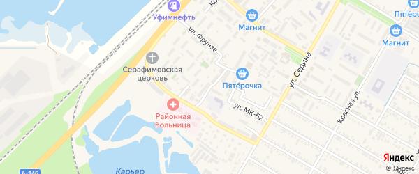 Переулок Фрунзе на карте поселка Энема Адыгеи с номерами домов