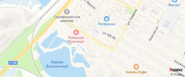 Улица Иркутско-Пинской дивизии на карте поселка Энема Адыгеи с номерами домов