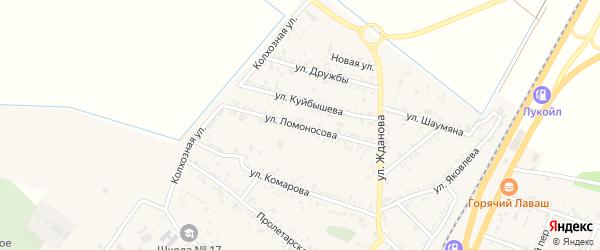 Улица Ломоносова на карте поселка Энема Адыгеи с номерами домов