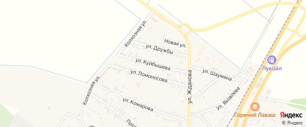 Улица Куйбышева на карте поселка Энема Адыгеи с номерами домов