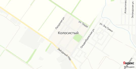 Карта поселка Колосистый в Краснодаре с улицами, домами и почтовыми отделениями со спутника онлайн