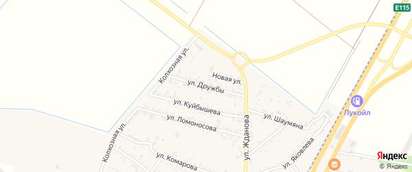 Улица Дружбы на карте поселка Энема Адыгеи с номерами домов