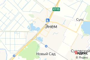 Карта пос. Энем Республика Адыгея