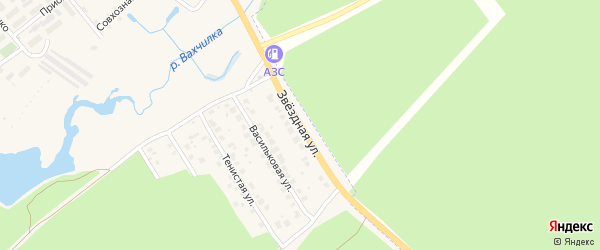 Звездная улица на карте Киржача с номерами домов