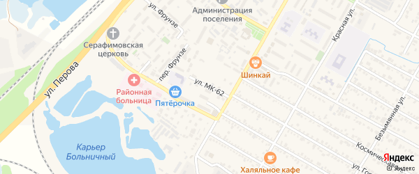 Улица МК-62 на карте поселка Энема Адыгеи с номерами домов