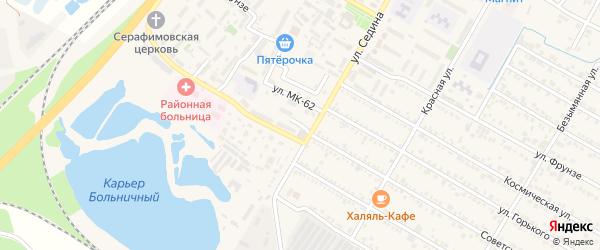 Улица Алиева на карте поселка Энема Адыгеи с номерами домов