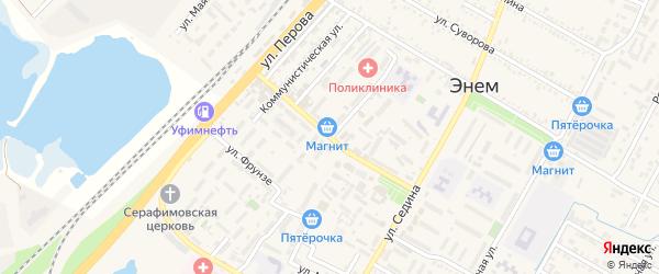 Улица Чкалова на карте поселка Энема Адыгеи с номерами домов