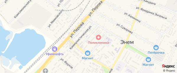 Улица Ильницкого на карте поселка Энема Адыгеи с номерами домов