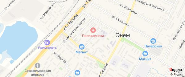 Переулок Ильницкого на карте поселка Энема Адыгеи с номерами домов
