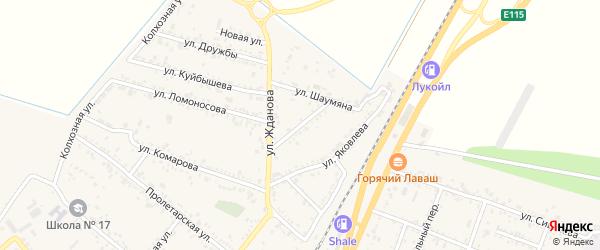 Улица Пушкина на карте поселка Энема Адыгеи с номерами домов