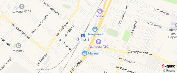 Привокзальный переулок на карте поселка Энема Адыгеи с номерами домов