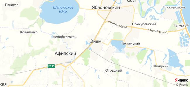 Энем на карте