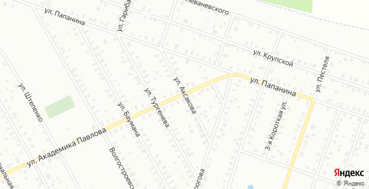 Улица Аксакова в Рыбинске с номерами домов на карте. Спутник и схема онлайн
