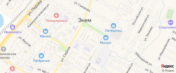 Красная улица на карте Восход-2 Адыгеи с номерами домов