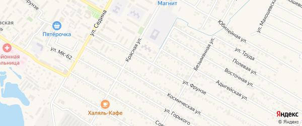Улица Фрунзе на карте поселка Энема с номерами домов