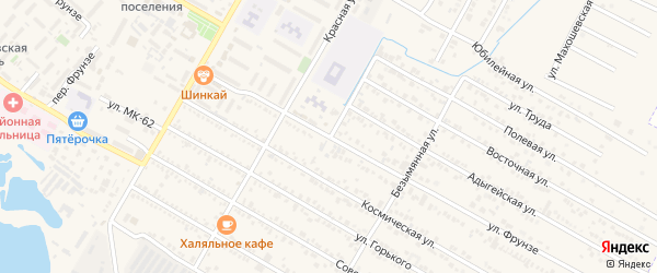 Улица Фрунзе на карте поселка Энема Адыгеи с номерами домов