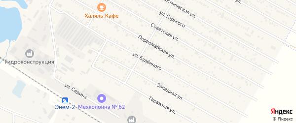 Улица Буденного на карте поселка Энема Адыгеи с номерами домов