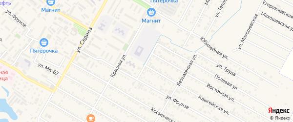 Промышленная улица на карте поселка Энема Адыгеи с номерами домов