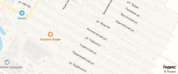 Безымянная улица на карте поселка Энема Адыгеи с номерами домов