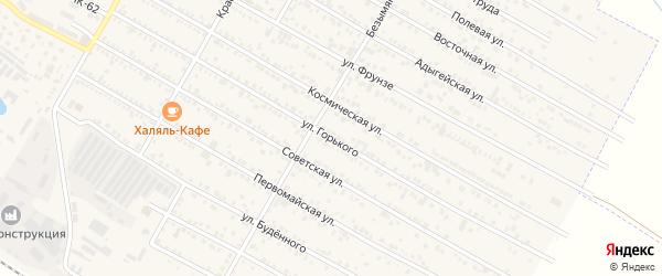 Улица Горького на карте поселка Энема с номерами домов