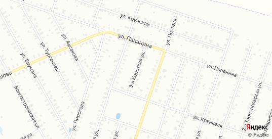 Папанина/3-я Короткая улица в Рыбинске с номерами домов на карте. Спутник и схема онлайн