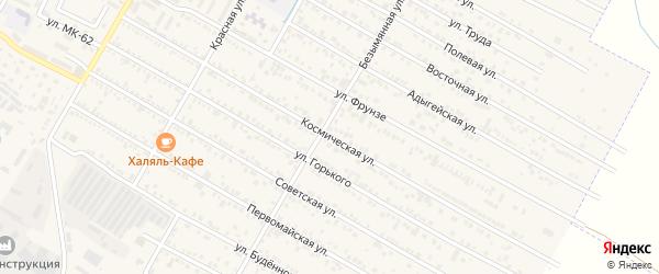 Космическая улица на карте поселка Энема Адыгеи с номерами домов