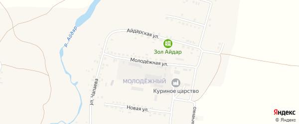 Молодежная улица на карте поселка Ровенек с номерами домов