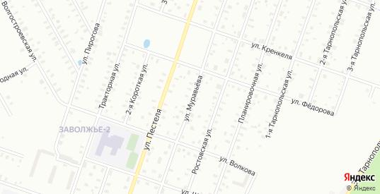 Улица Муравьева в Рыбинске с номерами домов на карте. Спутник и схема онлайн