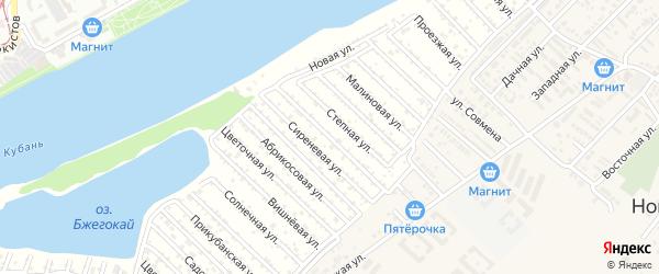 Вишневая улица на карте садового некоммерческого товарищества Закубанские сады 2 с номерами домов