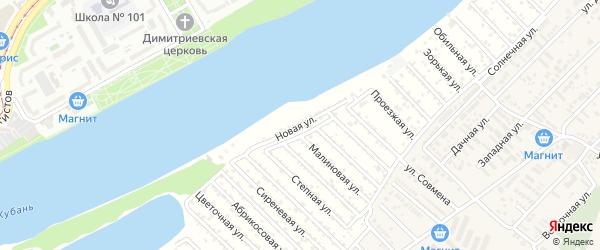 Новая улица на карте Закубанские садов 2 Адыгеи с номерами домов