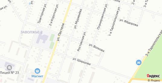 Ширшова/Ростовская улица в Рыбинске с номерами домов на карте. Спутник и схема онлайн