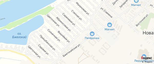 Жасминовая улица на карте Закубанские садов 2 Адыгеи с номерами домов