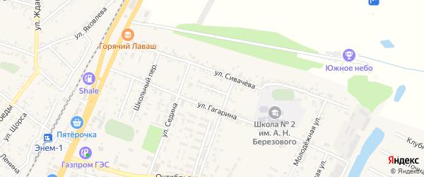 Улица Захарова на карте поселка Энема Адыгеи с номерами домов